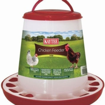 FARM PRODUCTS - CHICKEN PLASTIC FEEDER - LARGE - 1.25 GAL - CENTRAL - SUPER PET/PETs INTL - UPC: 45125658439 - DEPT: HORSE PRODUCTS/FARM PRODUCTS