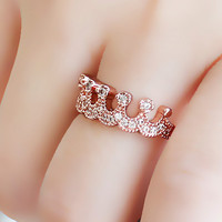 Crown Rhinestone Ring