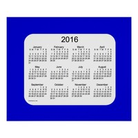 2016 Denim Blue Wall Calendar by Janz Print