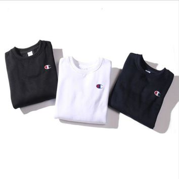 PEAPIH3 Plus cashmere embroidered round neck men and women couples sweaters