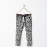 Jacquard drawstring trousers