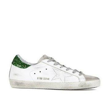 Golden Goose Deluxe Brand Superstar Green/White Sneakers