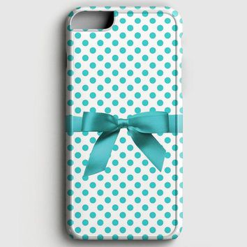 Blue Tiffany Polkadot Ribbon iPhone 8 Case