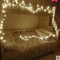 Free Shipping 3M 20LED lamps 2*AA Battery-Operated Navidad Xmas LED String Pendant Five Star Light Home Party Wedding Decoration