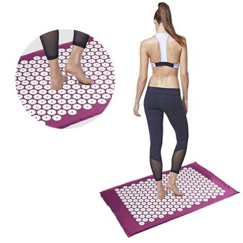Yoga Massager Acupressure Points Therapy Massager Body Back Neck Foot Stress Pain Relieve Promote Blood Circulation Mat Yoga Pad