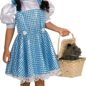 Rubies Wizard of Oz Dorothy Sequin Costume Toddler 1-2