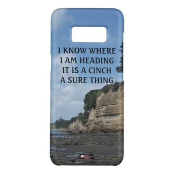 Cinch Photo Quote by Kat Worth Case-Mate Samsung Galaxy S8 Case
