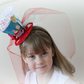 Alice In Wonderland Mini Top Hat - Tea Party Hat - Mad Hatter Hat - Girl's Birthday Top Hat