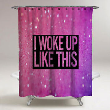 "Hot Rare Beyonce Quote Pink Glitter Custom Print On Shower Curtain 60"" x 72"""