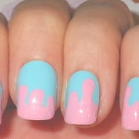 Nail Art Cotton Candy Sugar Bubblegum Drippy