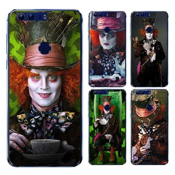 LISM Alice In Wonderland Johnny Depp Hard Case For Huawei P20 Pro P10 P9 Lite 2017 2016 P8 Lite 2015 P Smart Phone Cover