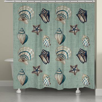 Coastal Kaleidoscope Shower Curtain