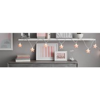 "Mainstays 11' 6"" Star String Lights, White, 10-Bulbs - Walmart.com"