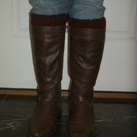 Stretchy Rib Knit Boot Cuffs, Boot Toppers with many color options