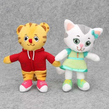 2pcs/set 8'' 20cm Daniel Tiger's Neighborhood Tiger Cat Friends Plush Doll Stuffed Toys