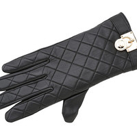 MICHAEL Michael Kors Michael Kors Quilted Leather Glove With Mk Padlock