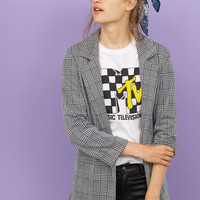 Jersey Jacket - Houndstooth-patterned - Ladies | H&M US