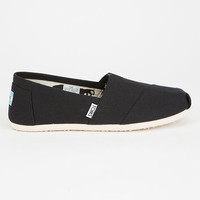 TOMS Womens Canvas Classic Slip-Ons | Casuals + Flats