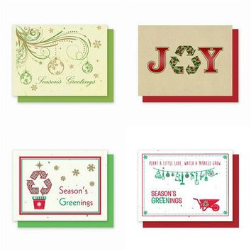 Holiday Plantable Greeting Cards Variety Pack 5