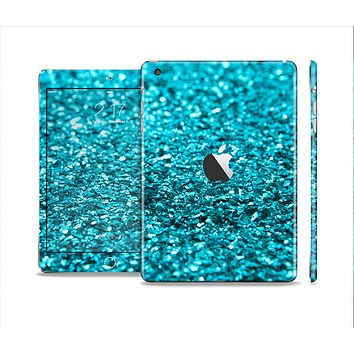 The Turquoise Glimmer Full Body Skin Set for the Apple iPad Mini 2