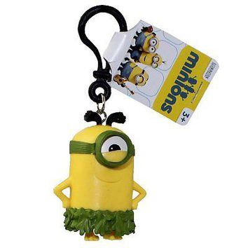 Minions Movie: Au Naturel Stuart PVC Figurine Backpack Clip Keychain