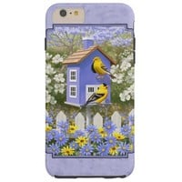 Goldfinches and Purple Birdhouse Tough iPhone 6 Plus Case