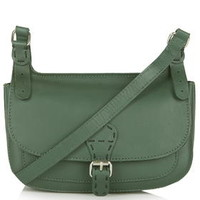'70s Leather Satchel - Forest