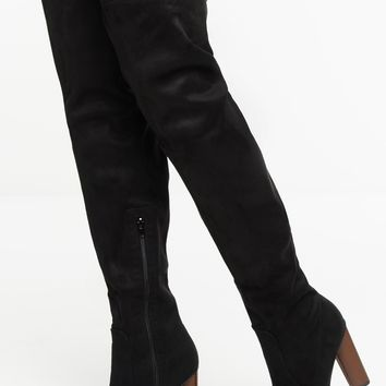 City Streets Boots - Black Suede