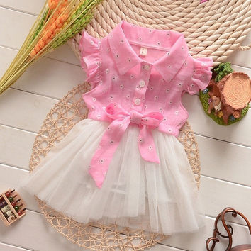 Baby Girls Princess Party Skirts Beach/Summer Kids Dresses Bow Sundress = 1946432772
