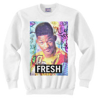 FRESH White Crew Neck Jumper