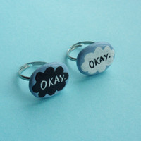 One The fault in our stars 'okay' ring by LornaYasmin on Etsy