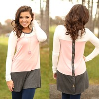 Button Up Tunic in Pink