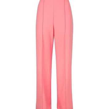 Bright Pink Pintuck Wide Leg TrouserS | New Look