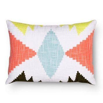 Room Essentials™ Aztec Decorative Pillow - Aqua (Lumbar)