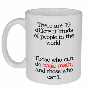 Doing Basic Math Funny Coffee or Tea Mug - Perfect Math Teacher Gift