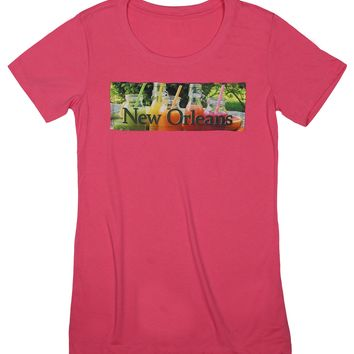 Smoothie Delight: Coastal Life Smoothies T-shirt, Hot Pink