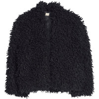H&M - Faux Fur Jacket - Black - Ladies
