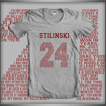 Stilinski 24 Quote Teen Wolf Beacon Hills Lacrosse Maroon ink Women Tee Tshirt
