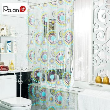 DCCKL72 New Arrival Transparent Pvc Bathroom Shower Curtain  Endless Printed Waterproof Moldproof Curtains Home Products Free Shipping