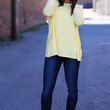 Long Sleeve Yellow Piko