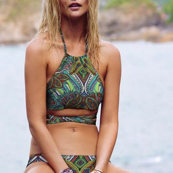 L*SPACE Zulu Tribal Lizzie Wrap Top