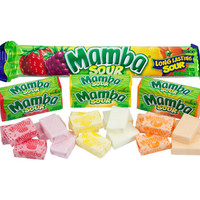 Mamba Fruit Chews Candy Bars - Sour: 24-Piece Box