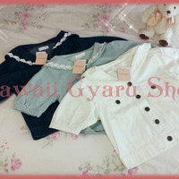 Liz Lisa Sailor Collar Denim Jacket (NwT) from Kawaii Gyaru Shop