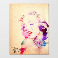 Marilyn Monroe Stretched Canvas by Stacia Elizabeth