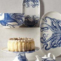 Blue Octopus Serveware by Anthropologie Blue