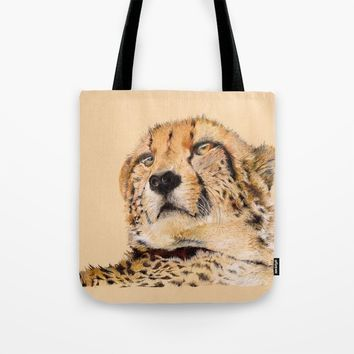 Season of the Cheetah Tote Bag by michael jon