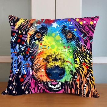 43x43cm Lovely Dog Cushion Cover Creative Animal Lens Pillow For Living Room Bed Room 1pce