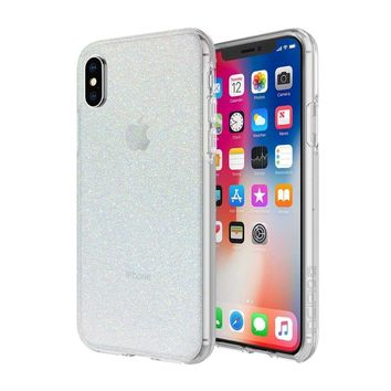 INCIPIO IRIDESCENT WHITE GLITTER DESIGN SERIES CASE FOR APPLE IPHONE X