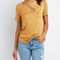 Caged Tee Shirt | Charlotte Russe