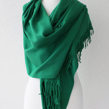 Pashmina Scarf Large Scarf Oversize Scarf Women Fashion Accessories Gift Ideas For Her Green